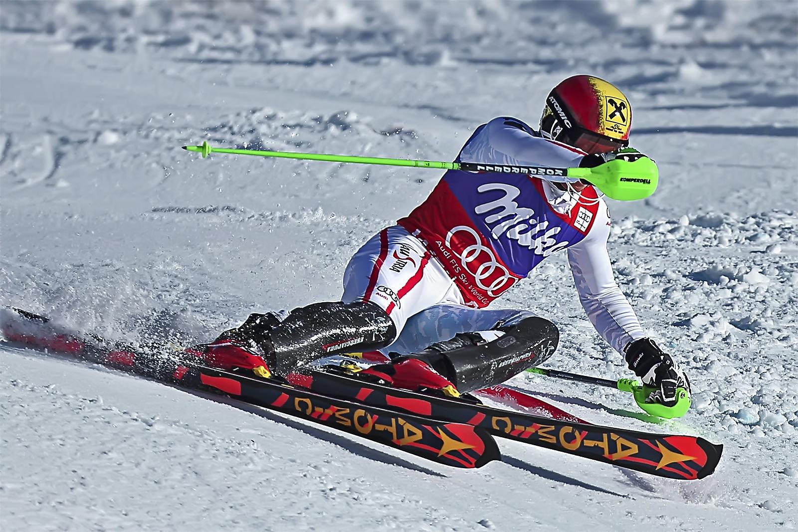 Marcel Hirscher, 2nd in Slalom.