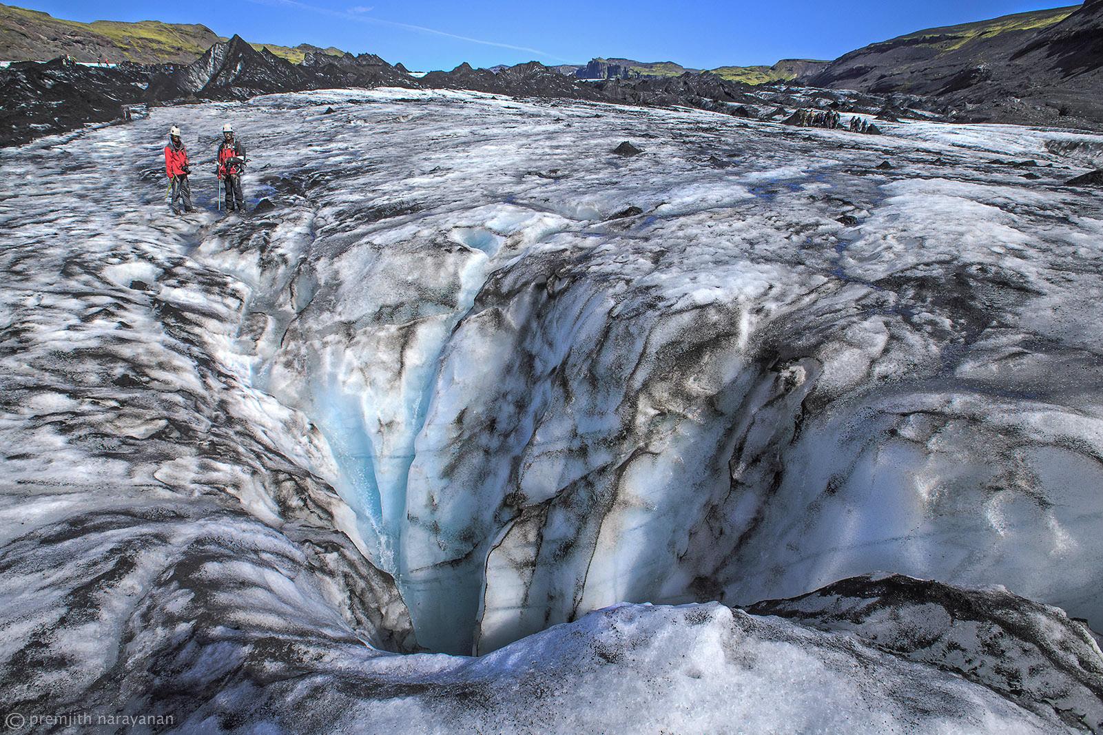 Sólheimajökull glacier, South coast of Iceland