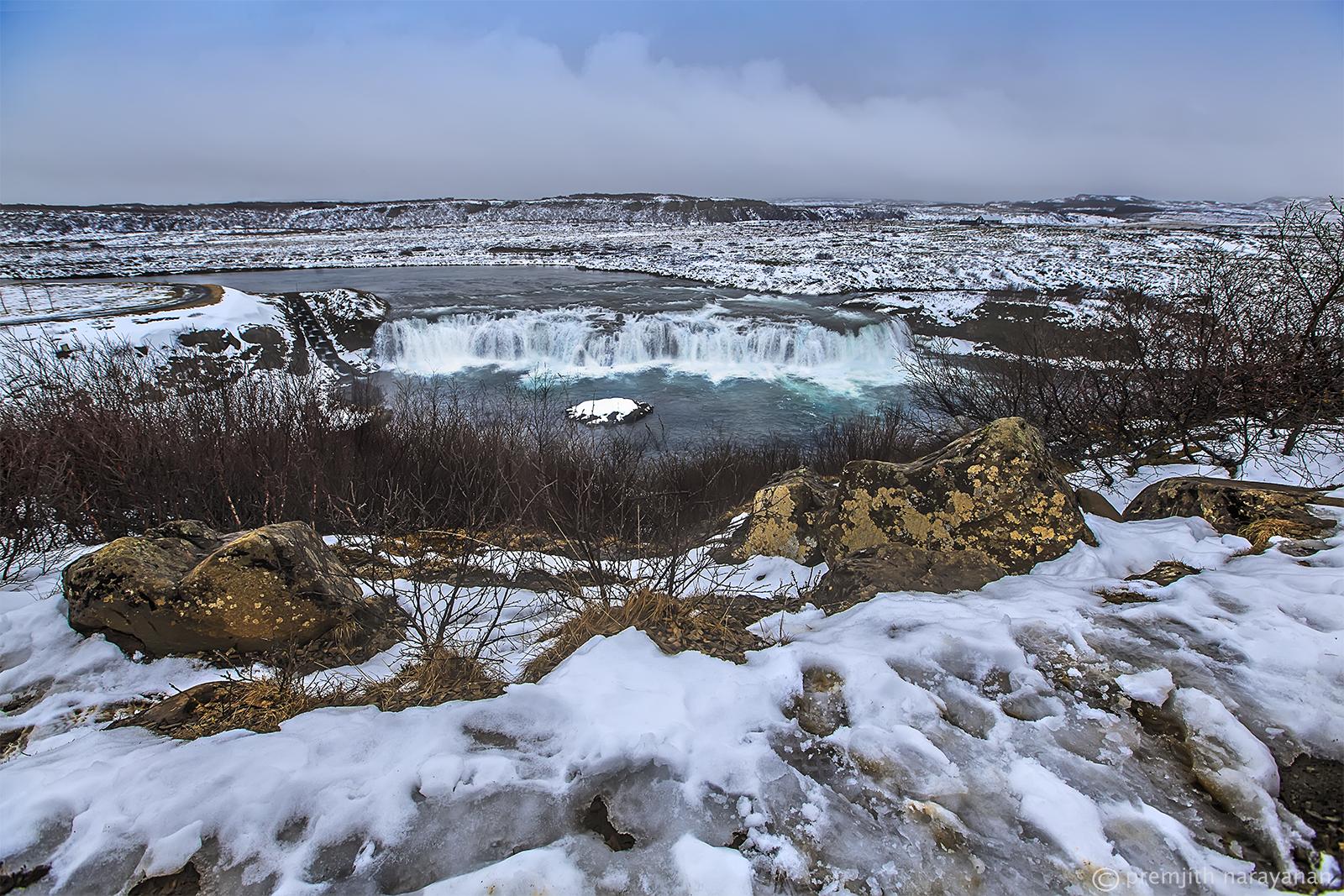 'Faxi' Waterfall near the capital Reykjavik.