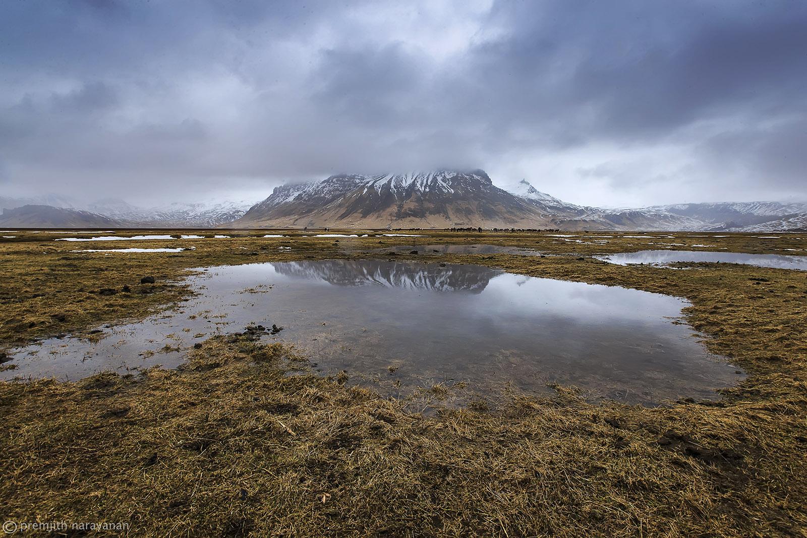 'Eyjafjallajökull'  volcanIc region ( erupted in 2010)