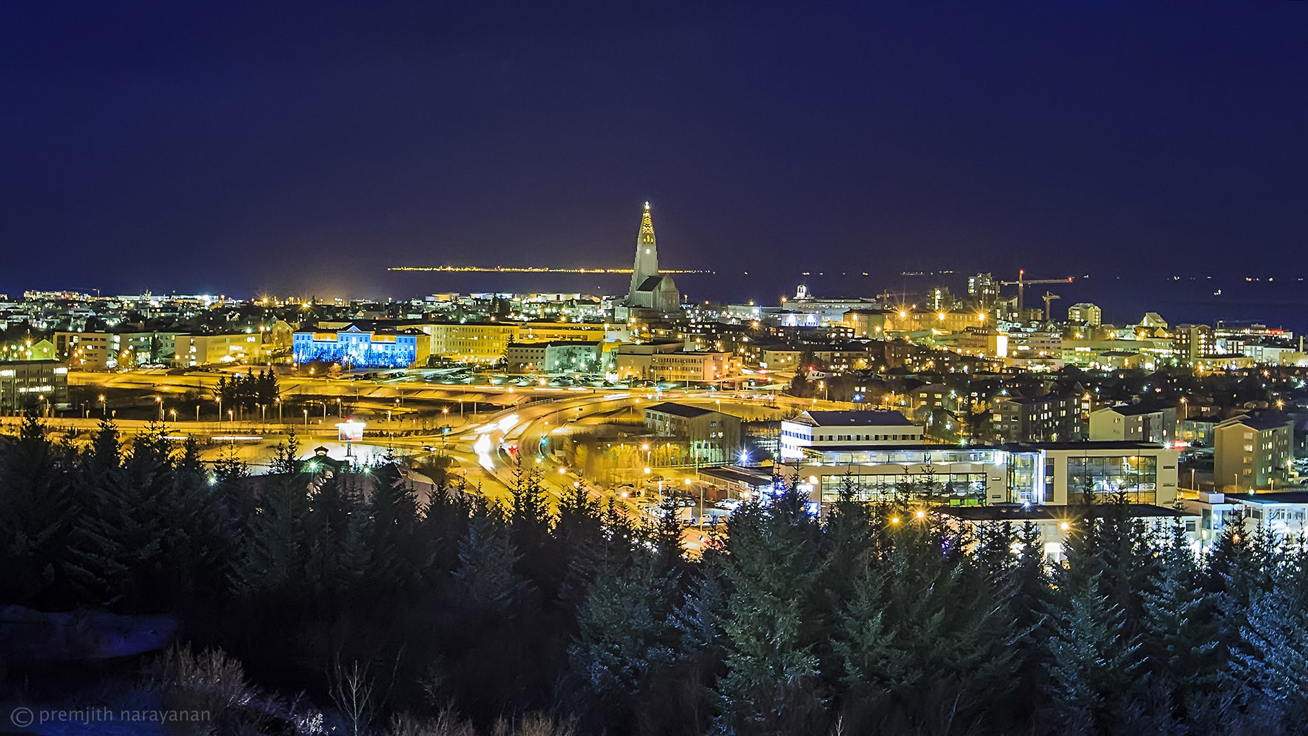 View of the capital city 'Reykjavik'.