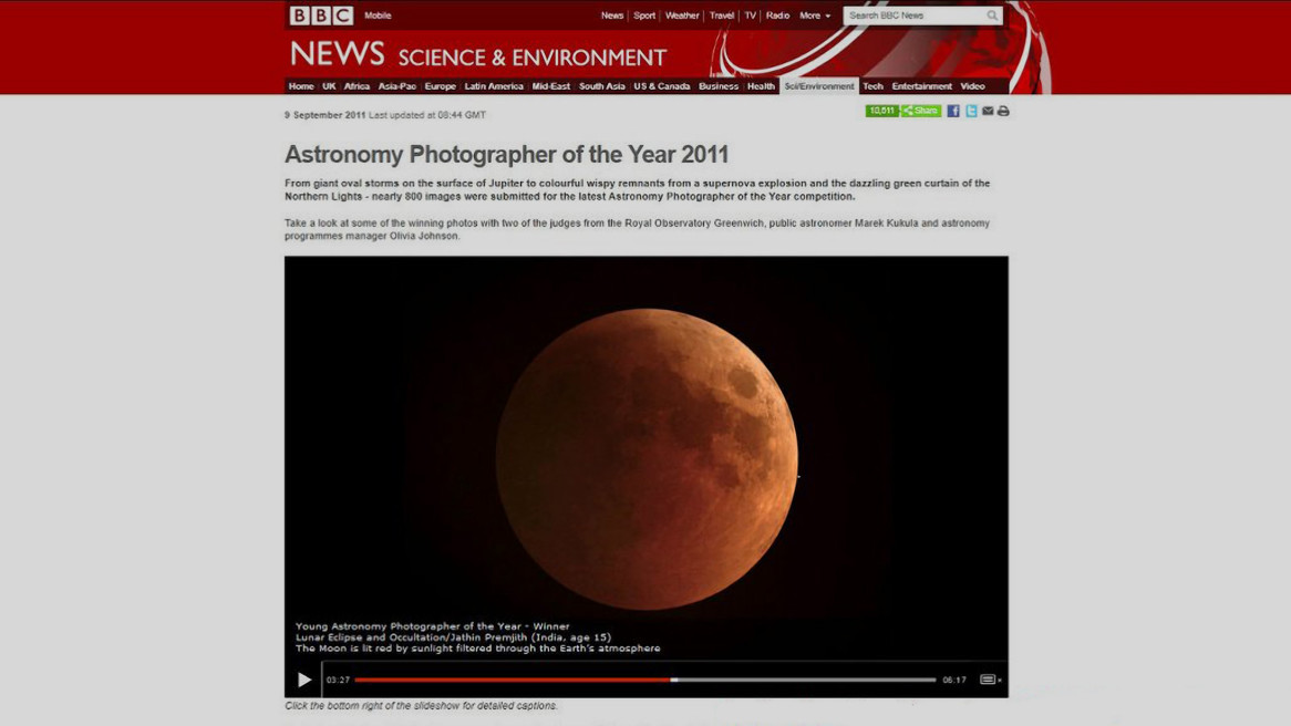 BBC NEWS Science & Environment, Astronomy photographer of the Year 2011
