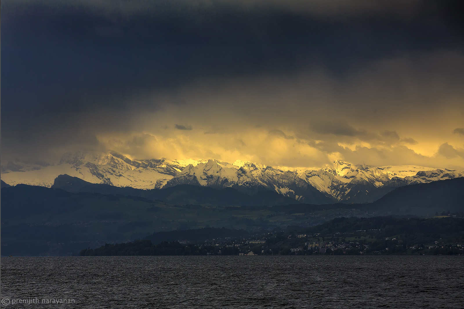 Alps view from Zurich