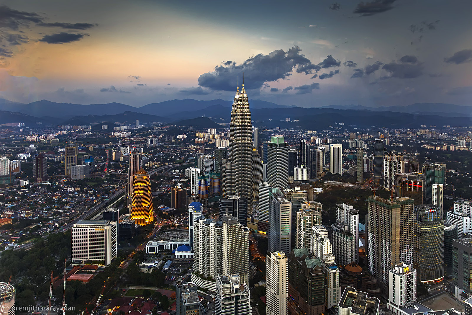 View of the Petronas from the KL Tower