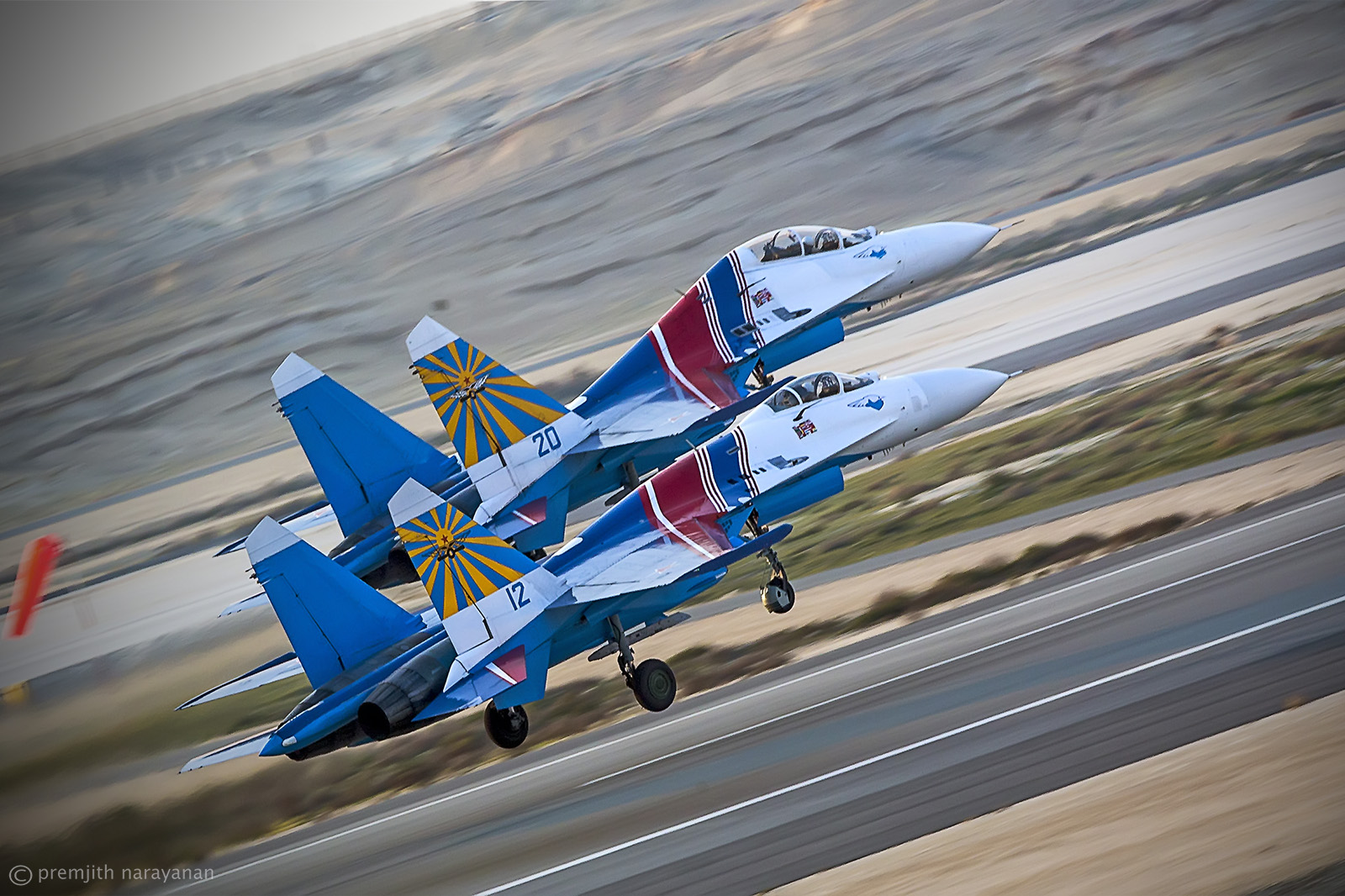 The Swift SUKHOI's Taking off...