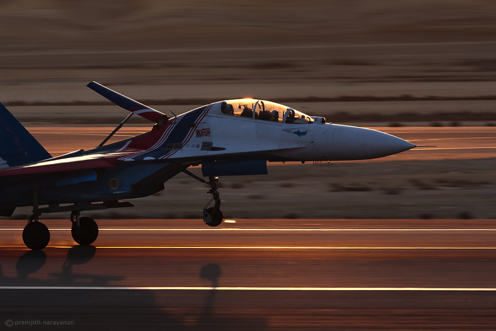 The SUKHOI touching down..