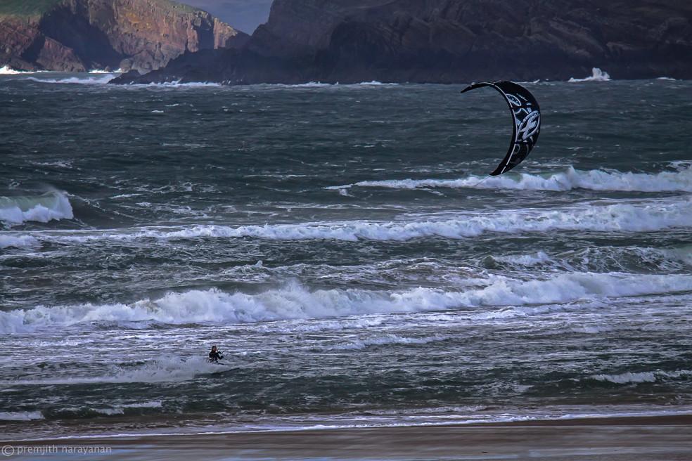 Kite Surfing, Wales, UK