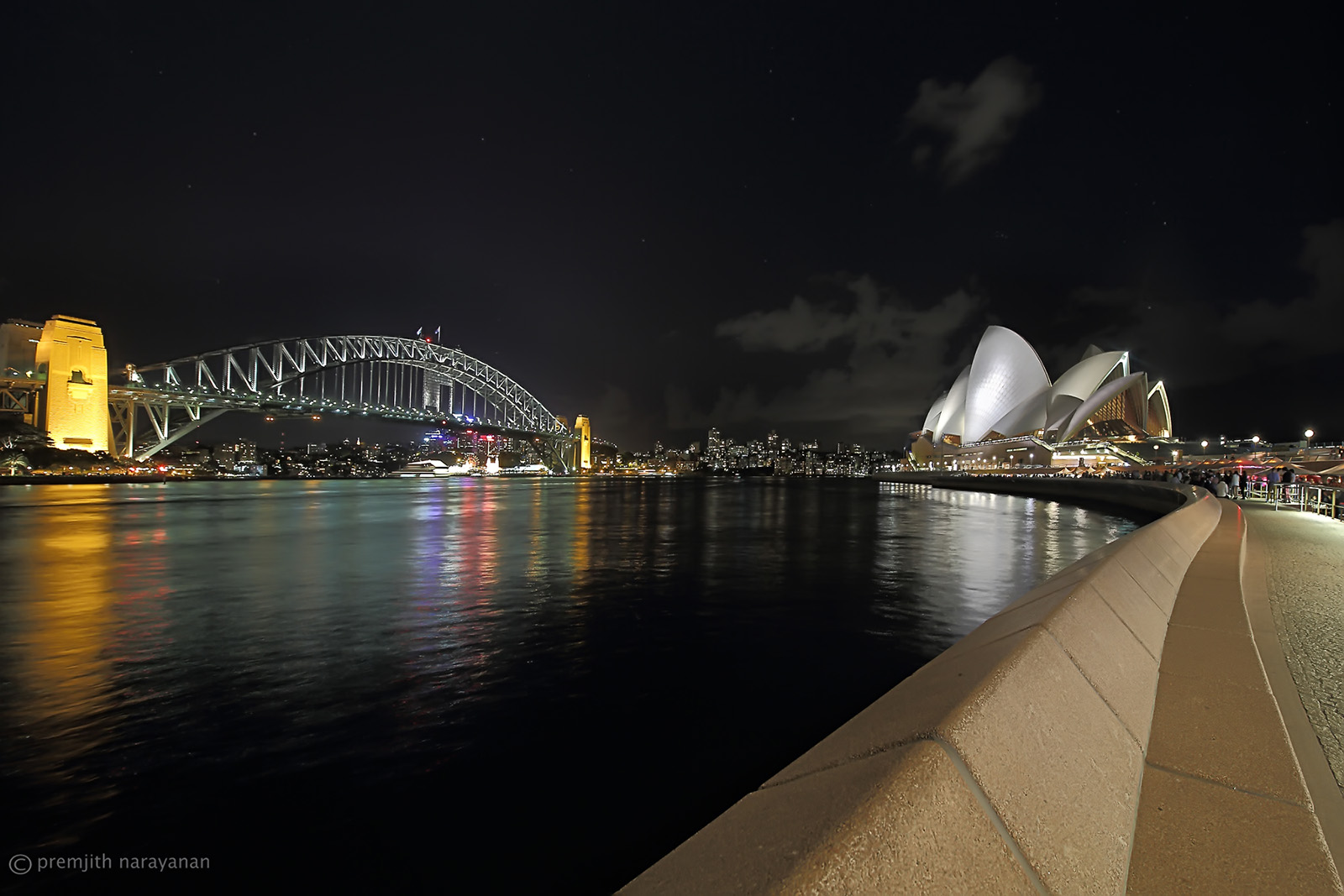 Sydney Harbour Bridge & Opera House - View from Darling Harbour