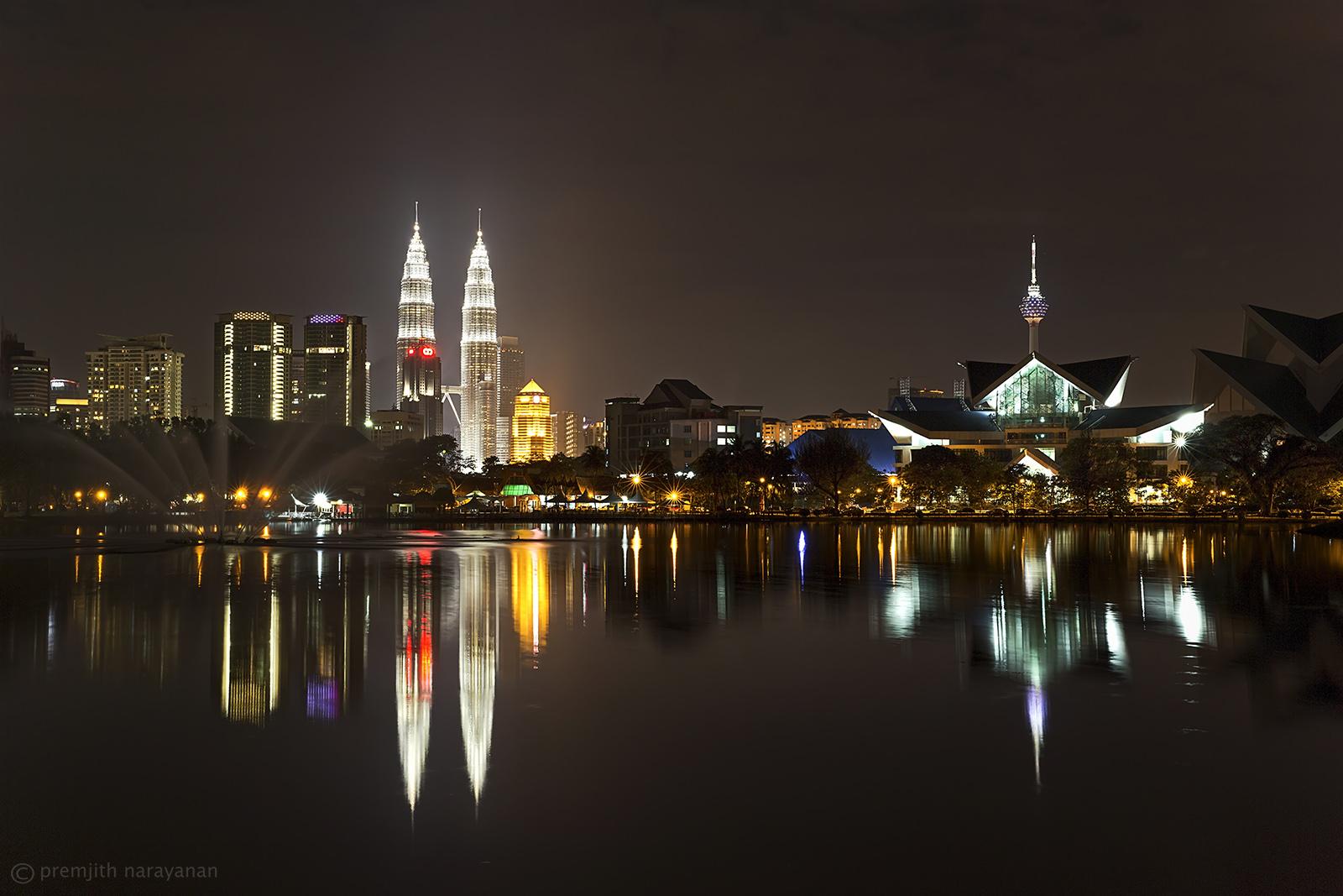 Petronas & Kuala Lumpur Towers