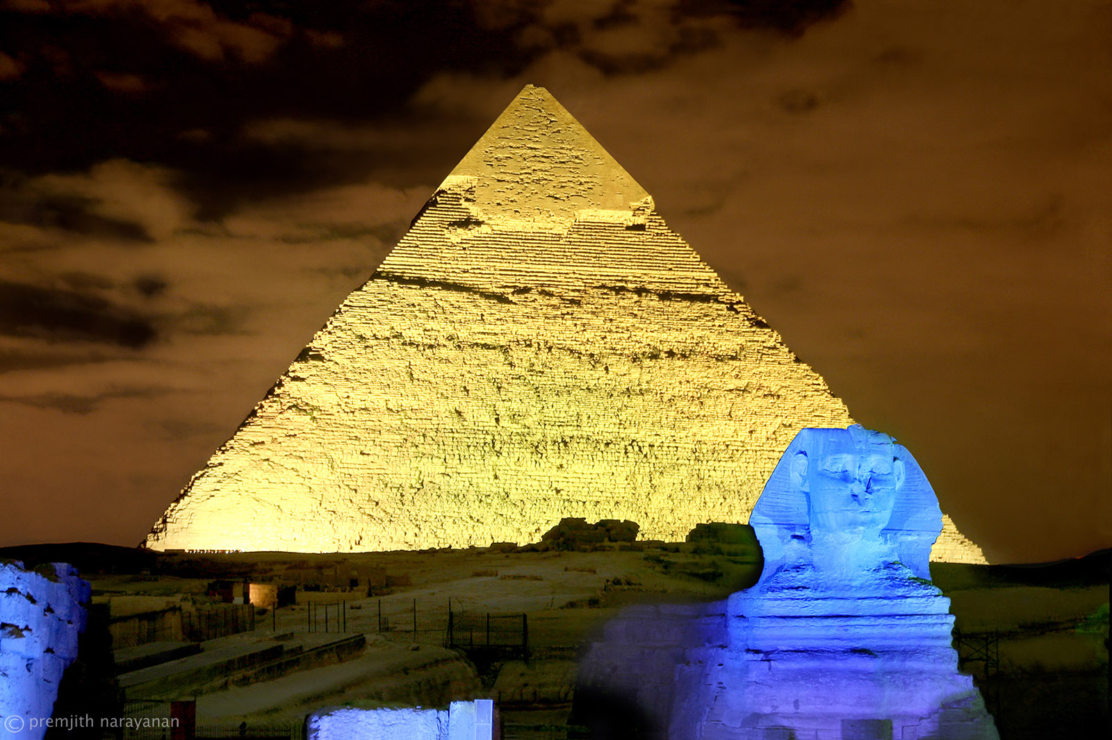 Sphynx and the Pyramid
