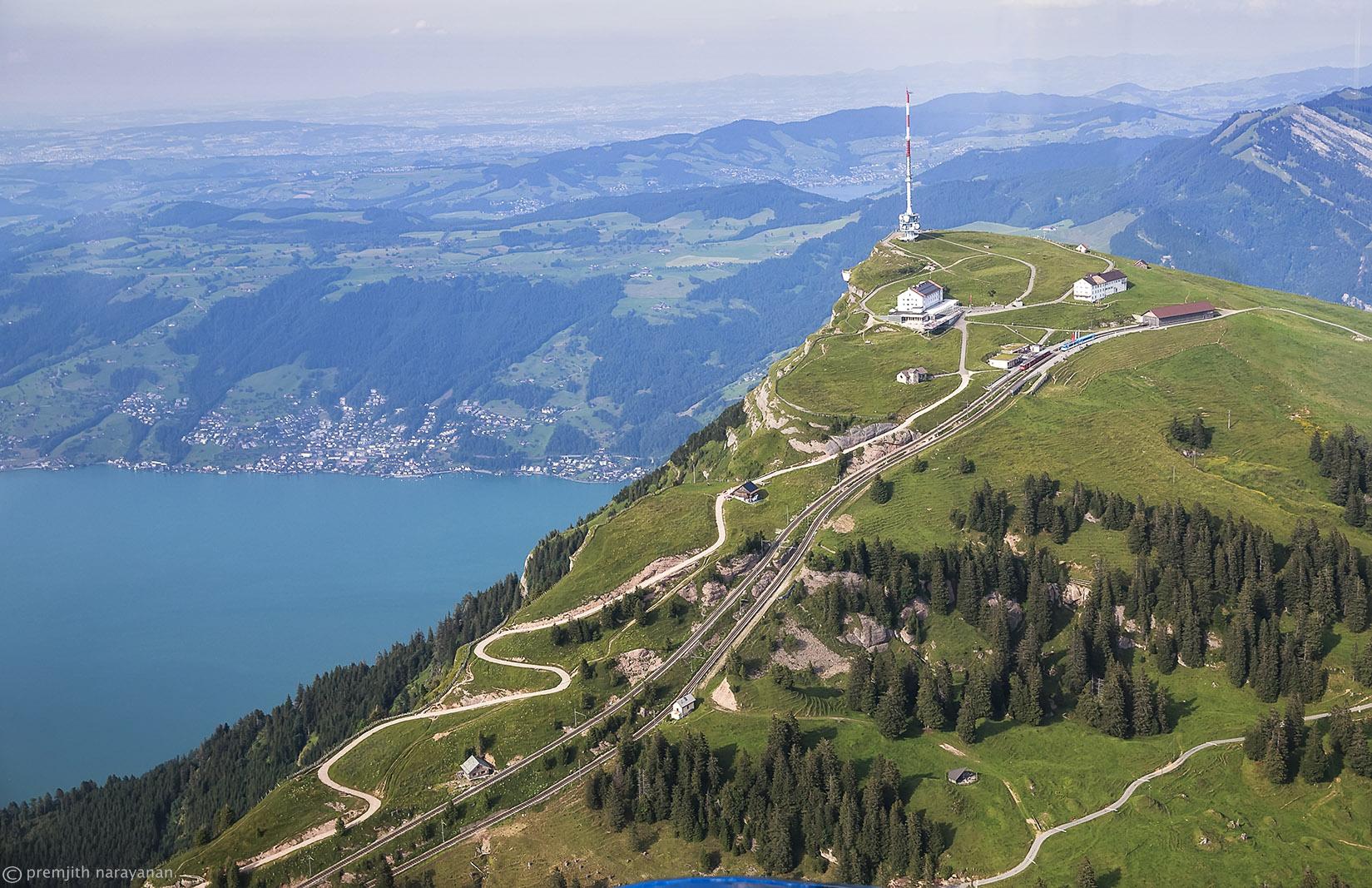 10.2 Rigi mountain, Lake Zug on the left (PN)