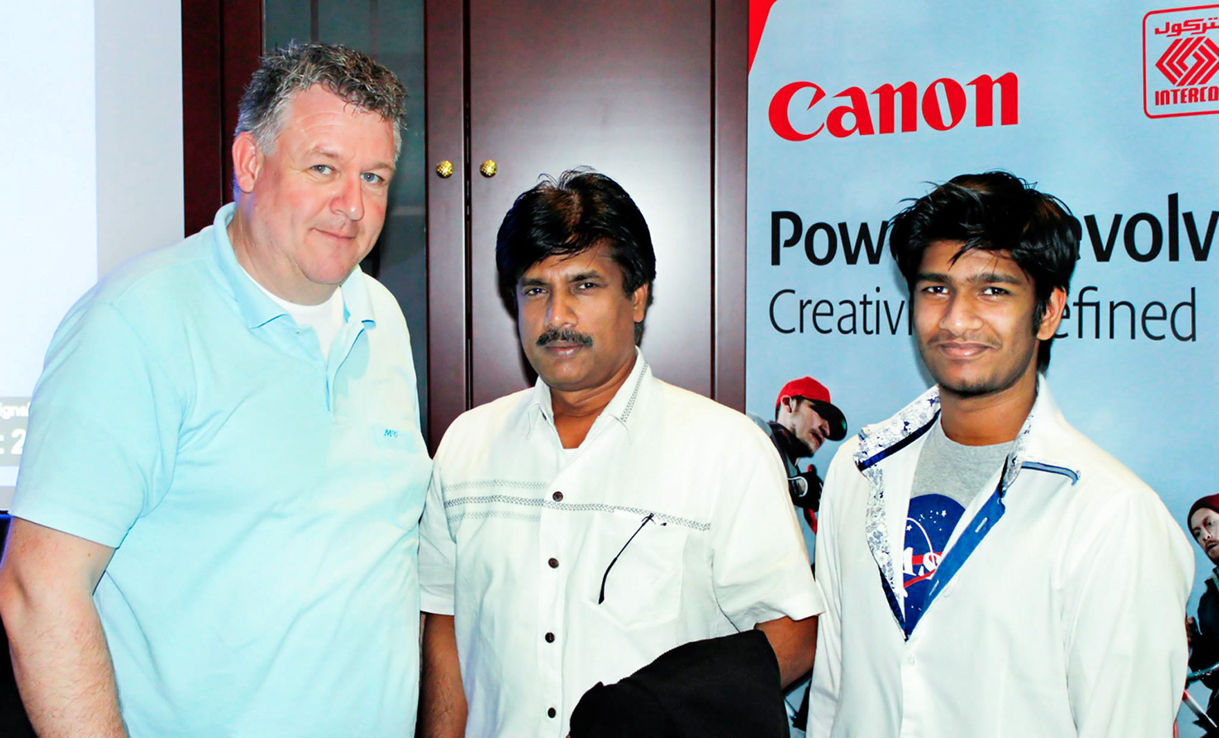 WITH  CANON  AMBASSADOR  FRITZ  VAN  ELDIK  &  SON  JATHIN  PREMJITH