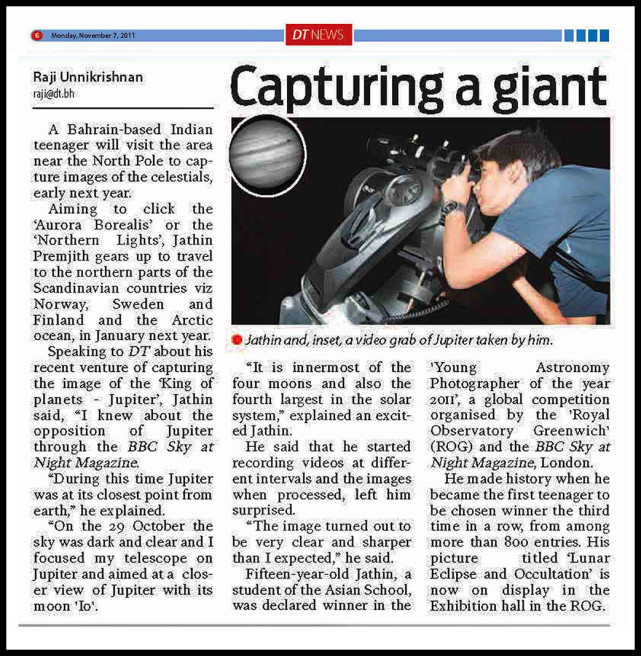 DAILY TRIBUNE Article, Capturing a Giant