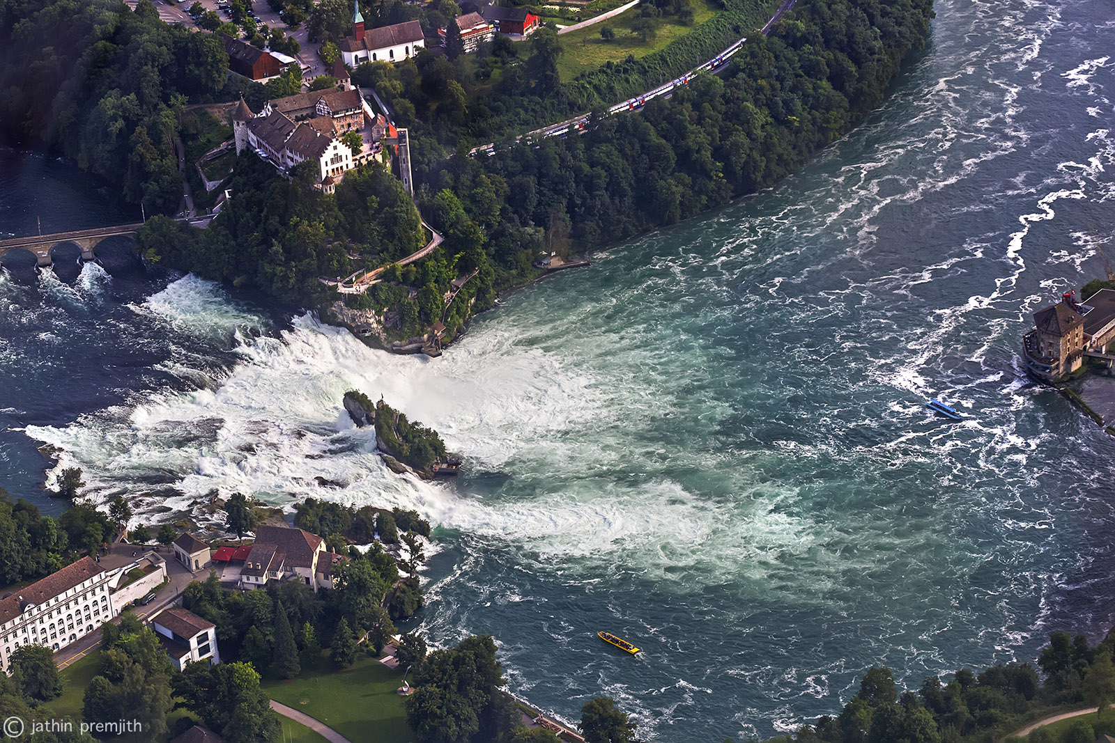 """RHINFALL"" - THE  BIGGEST  WATERFALL  OF  EUROPE."