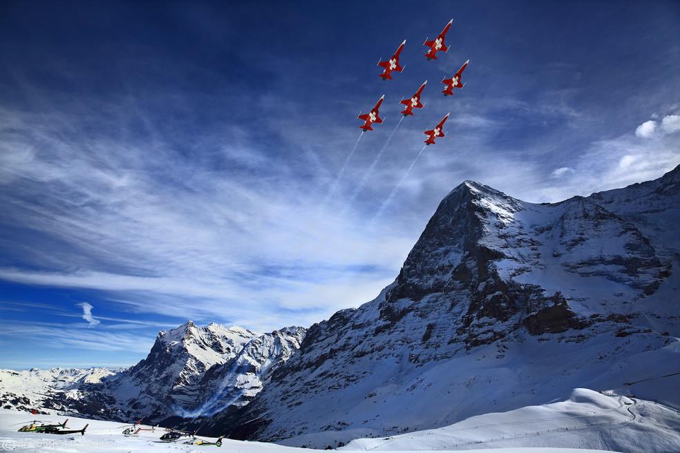 Air Show, Lauberhorn, Switzerland