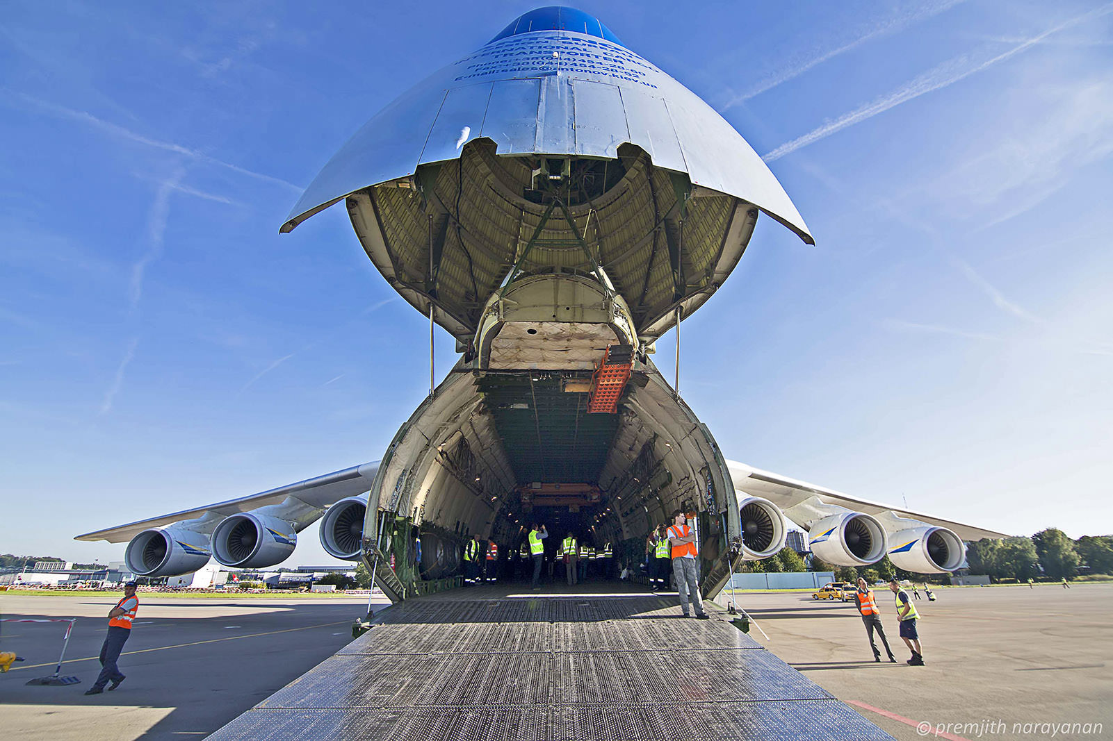9. Antonov 225 with nose opened- front view