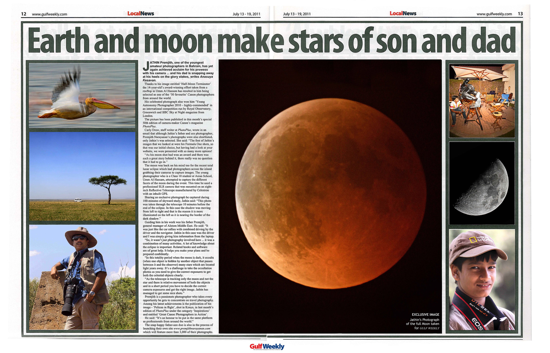 Gulf Weekly Centre-Spread Article