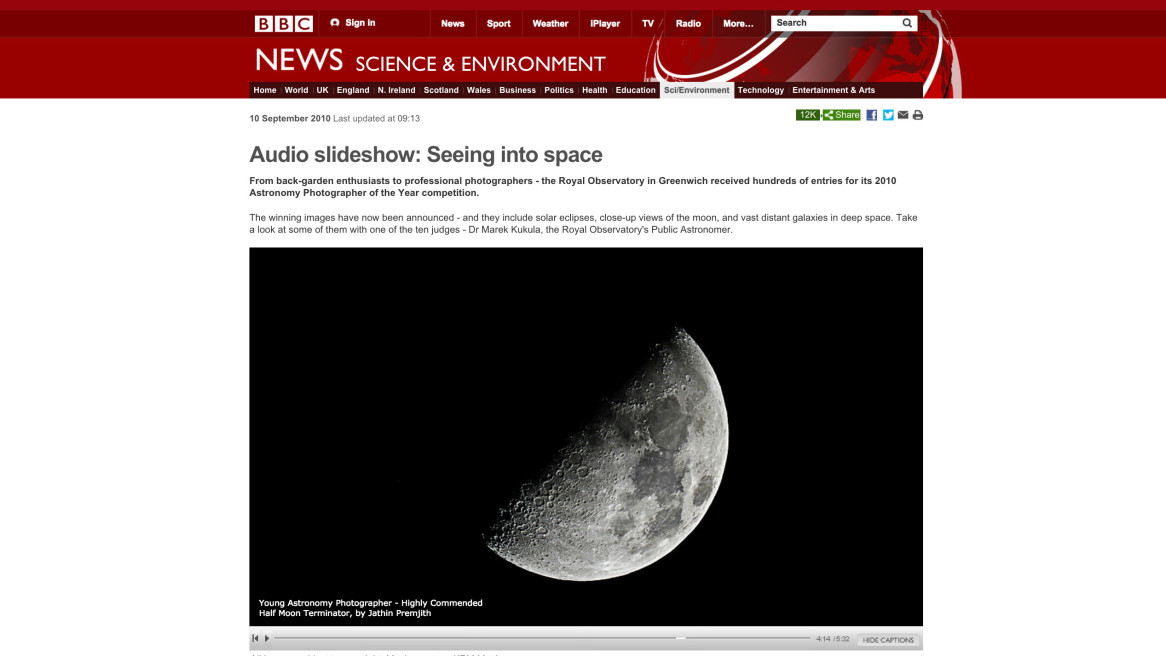 BBC NEWS Science & Environment, Astronomy photographer of the Year 2010