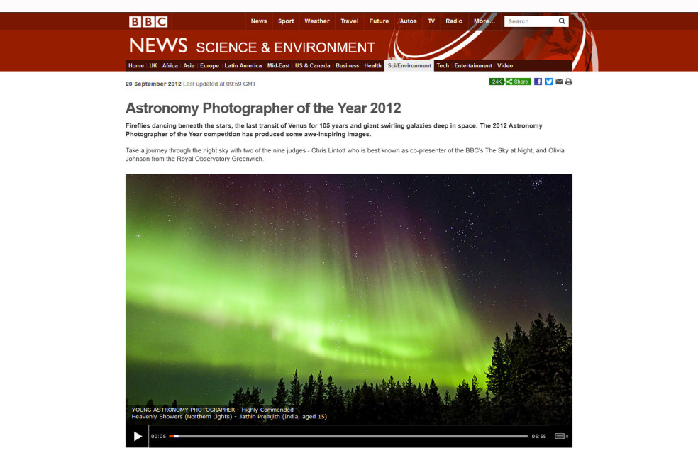 Young Astronomy Photographer of the Year 2012