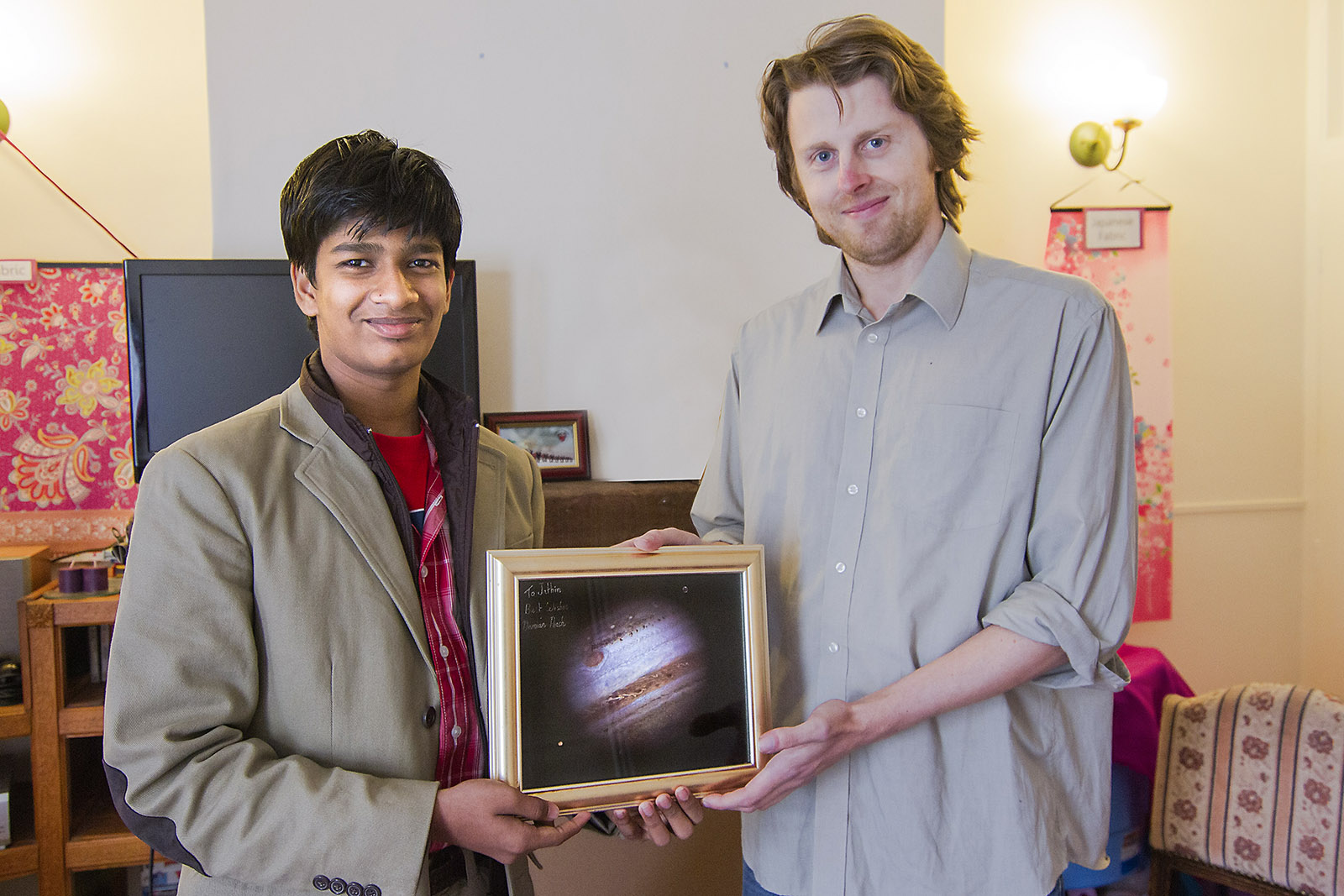 "WITH  ASTRONOMY  PHOTOGRAPHER  OF  THE  YEAR  - 2011 (ADULT CATEGORY) ""DAMIAN PEACH""  AT  HIS RESIDENCE  IN UK."