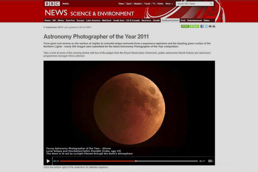 Young Astronomy Photographer of the Year – 2011