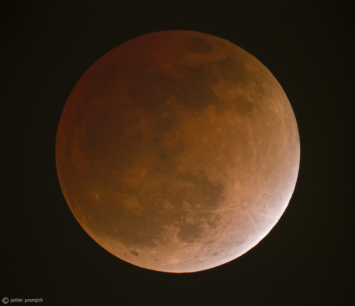 End of TOTALITY of Lunar Eclipse, 12th Dec, 2011