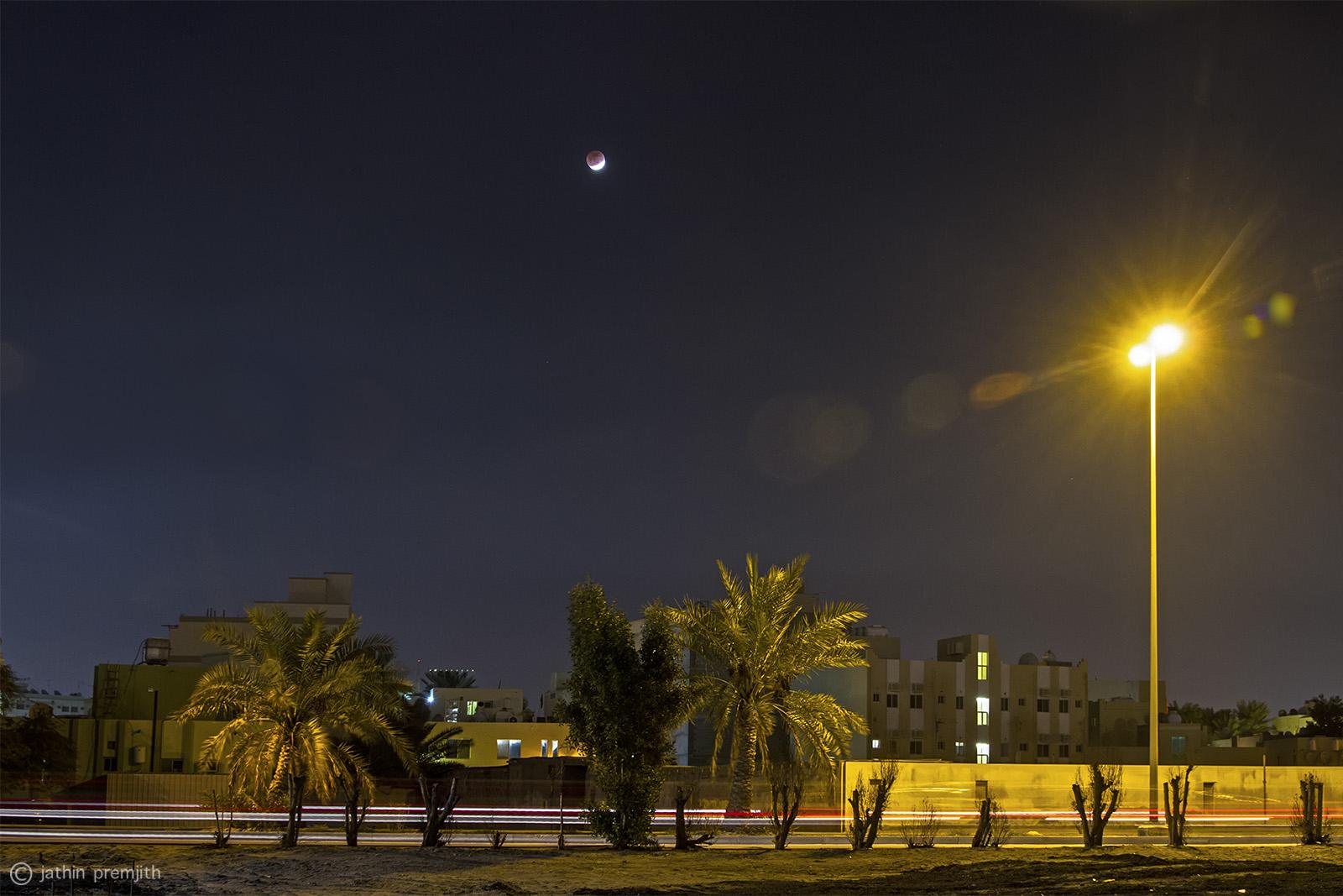 Lunar Eclipse in progress, 12th Dec, 2011