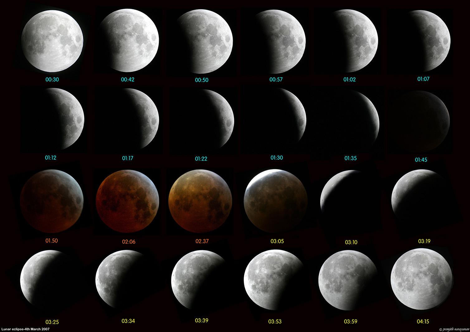 LUNAR eclipse 4th march 2007