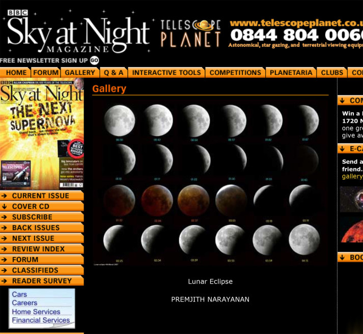 BBC Sky at Night, Lunar Eclipse, 2007
