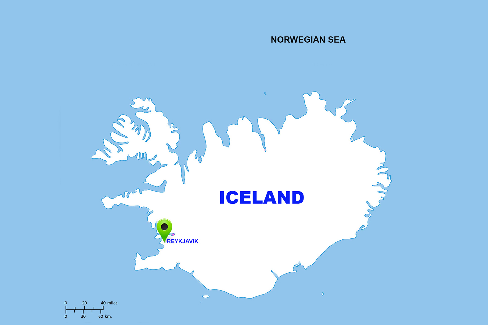 25. Iceland Map