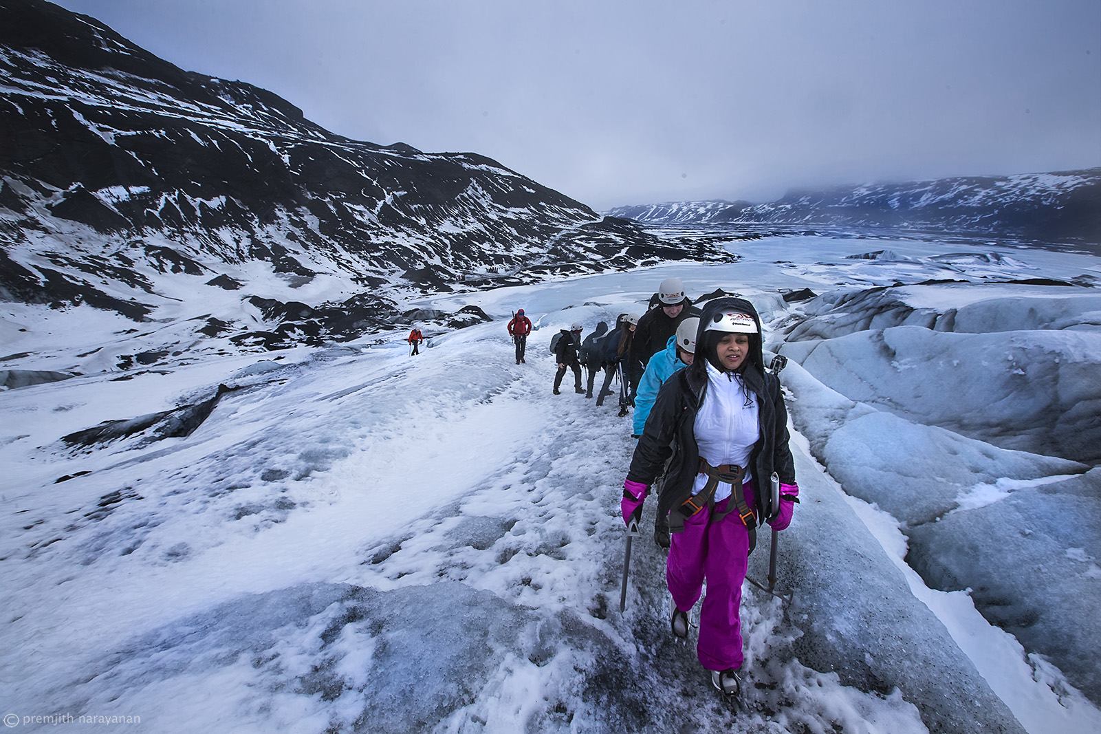 10. The final climb to the top of the  Glacier