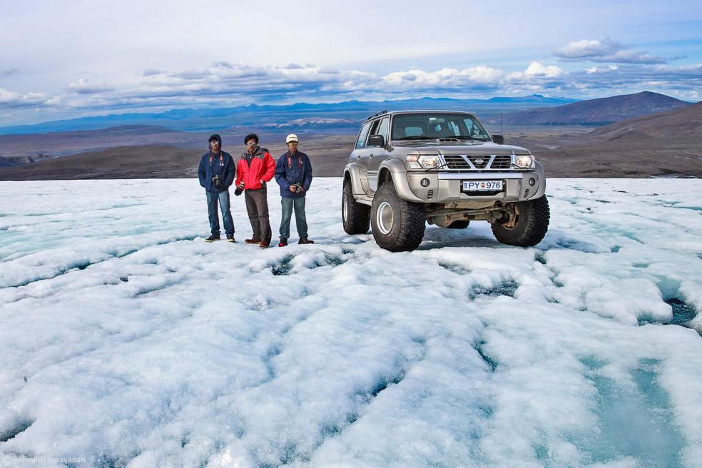Drive on Langjökull Glacier, Iceland