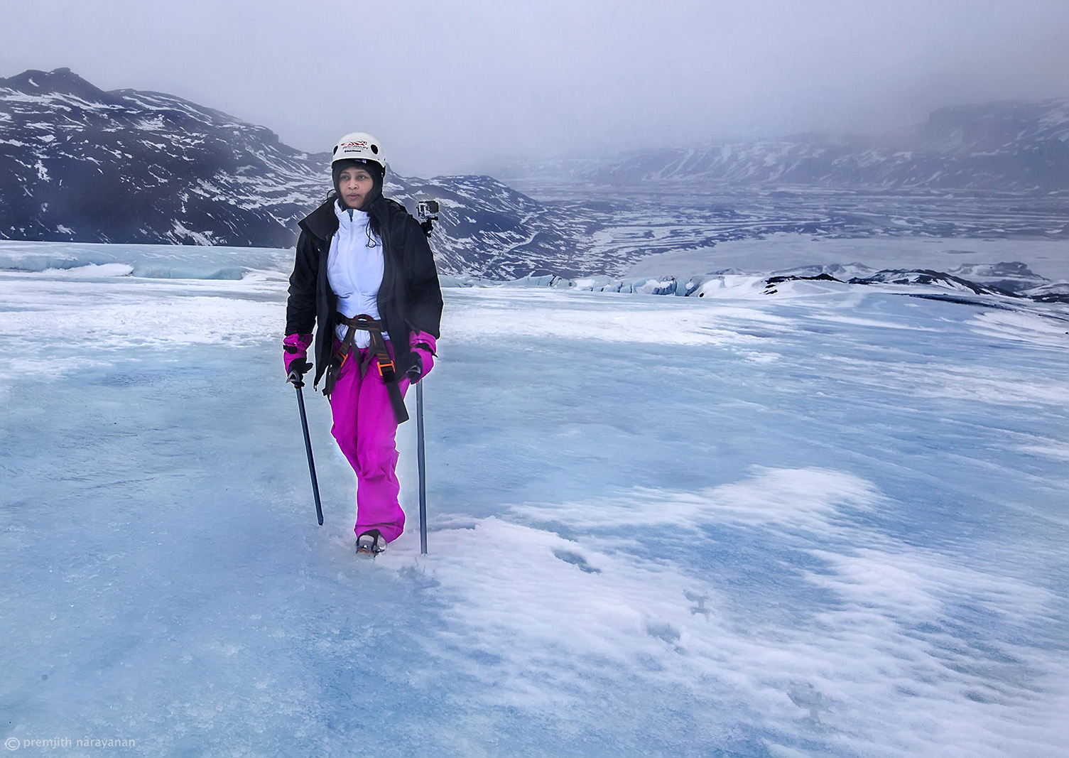 13. Ice climbing at the top of the Glacier