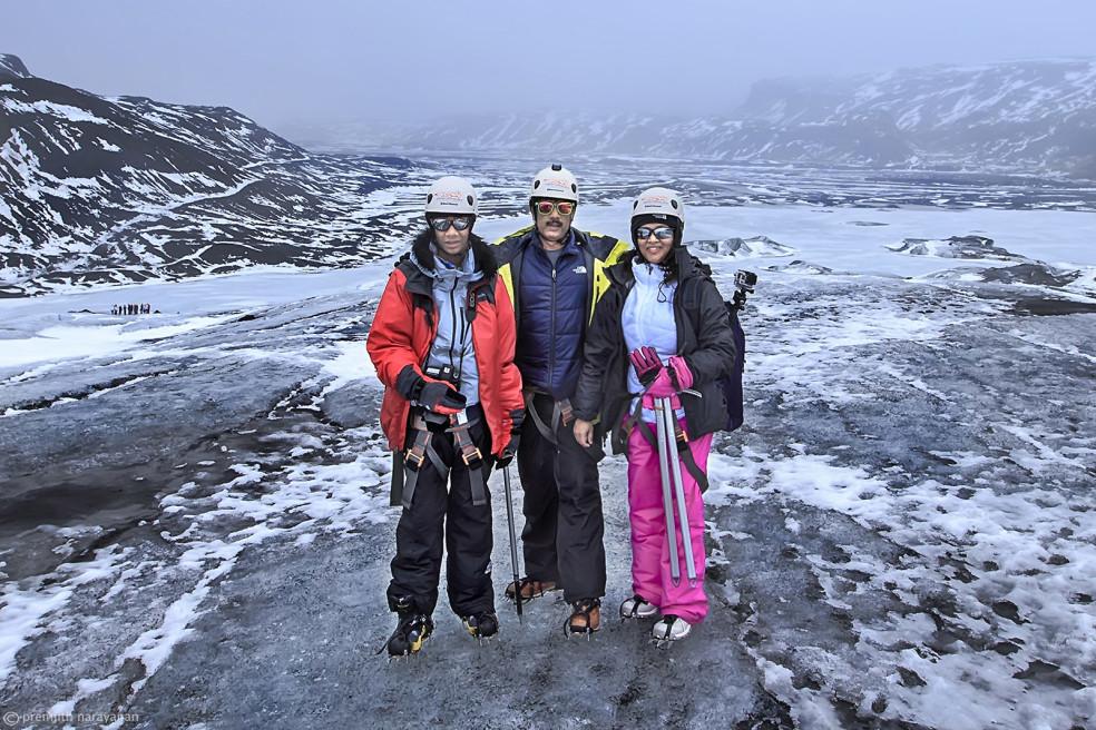 "Trekking on ""Solheimajokull"" Glacier, Iceland"