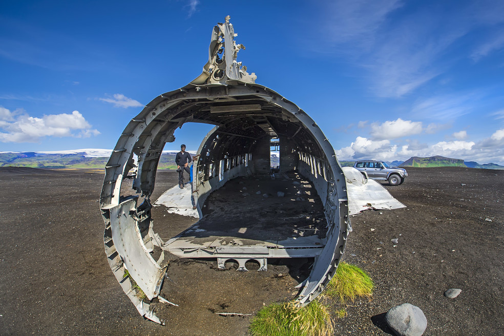 Wreckage of the  'Douglas Super DC-3' , Iceland