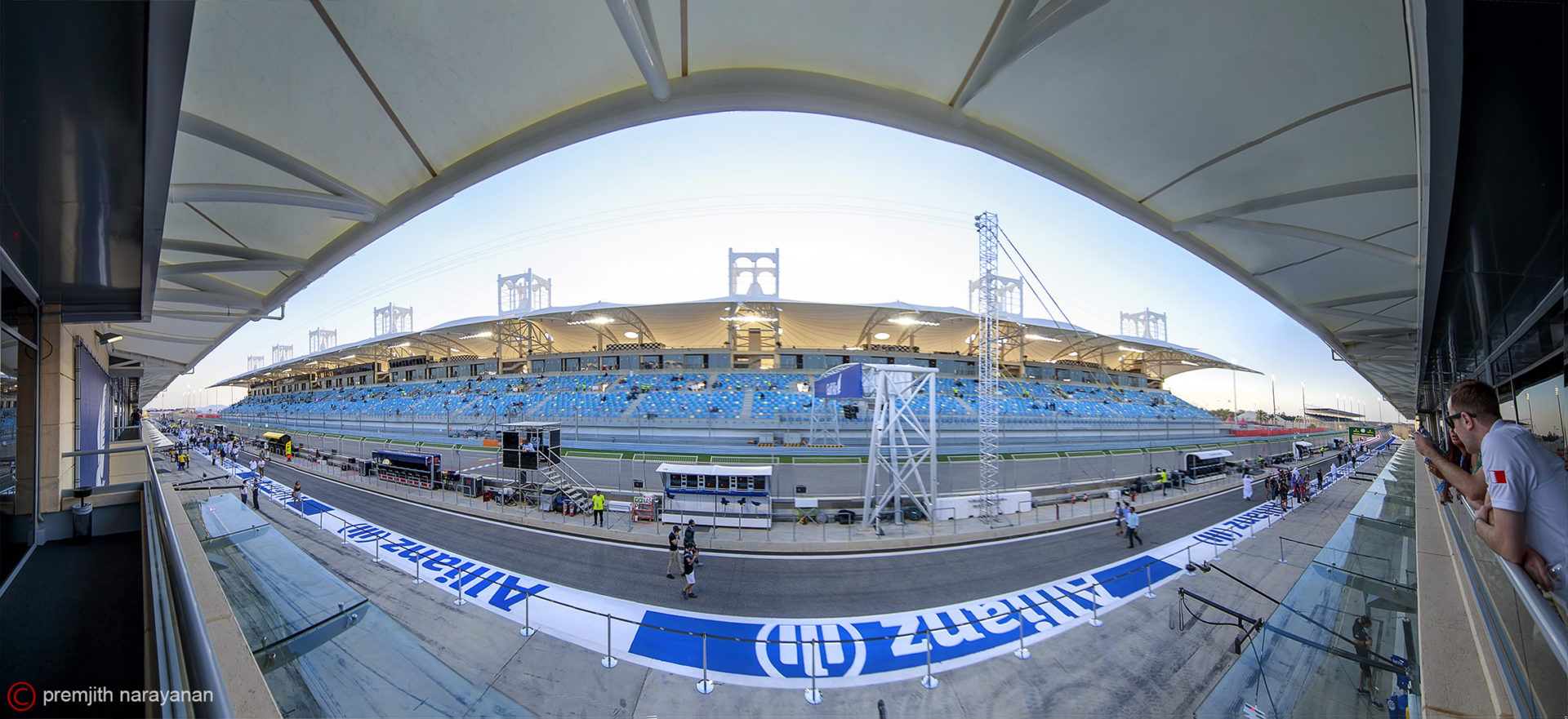 MAIN  GRAND  STAND - FROM  PADDOCK  CLUB   ABOVE  PIT  STOPS    (1DX + EF  11-14MM  F/4)