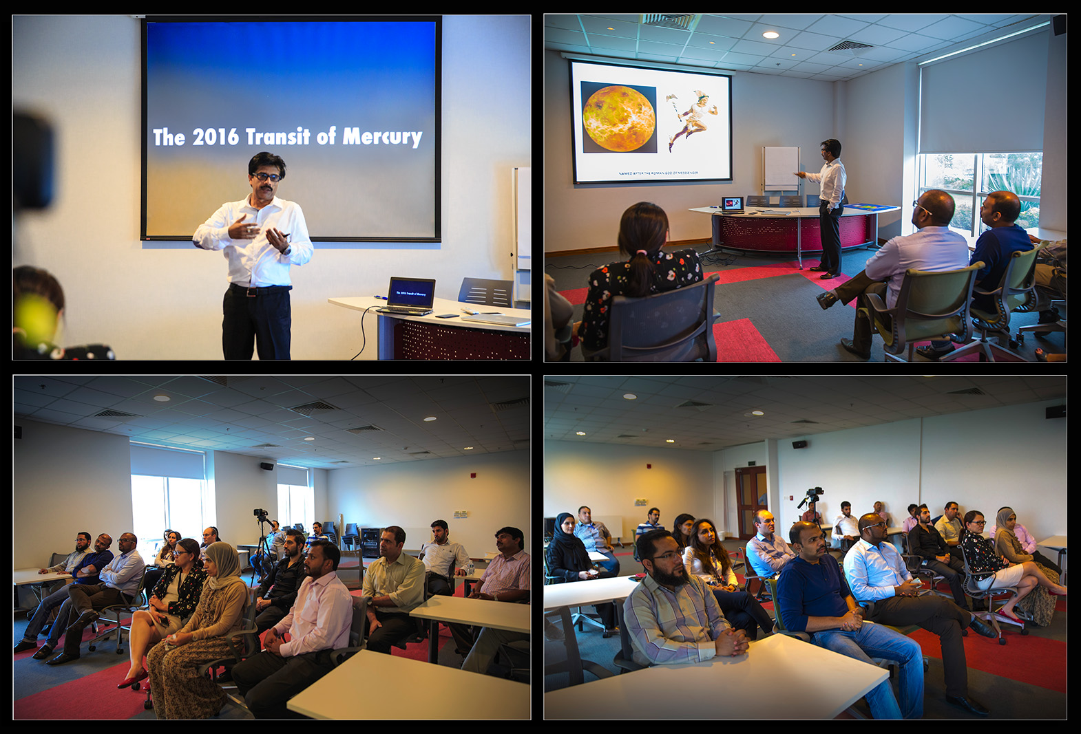 """PRESENTATION  ON """"TRANSIT  OF  MERCURY""""  TO  THE  ASTRONOMY  ENTHUSIASTS"""